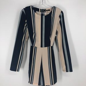 Nasty Gal Collection Stripe Wrap Mini Playsuit